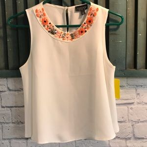 Topshop detailed neck flow tank size 2